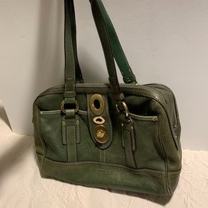 Coach Green Leather Handbag